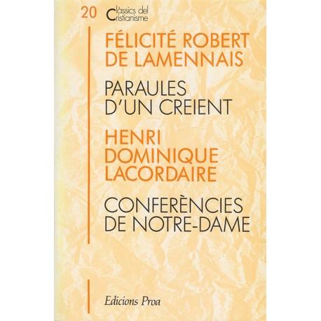 PARAULES D'UN CREIENT i CONFERÈNCIES DE NOTRE-DAME