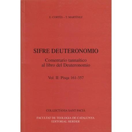 SIFRE DEUTERONOMIO.COMENTARIO TANNAÍTICO AL LIBRO DEL DEUTERONOMIO,Vol.II pisqa